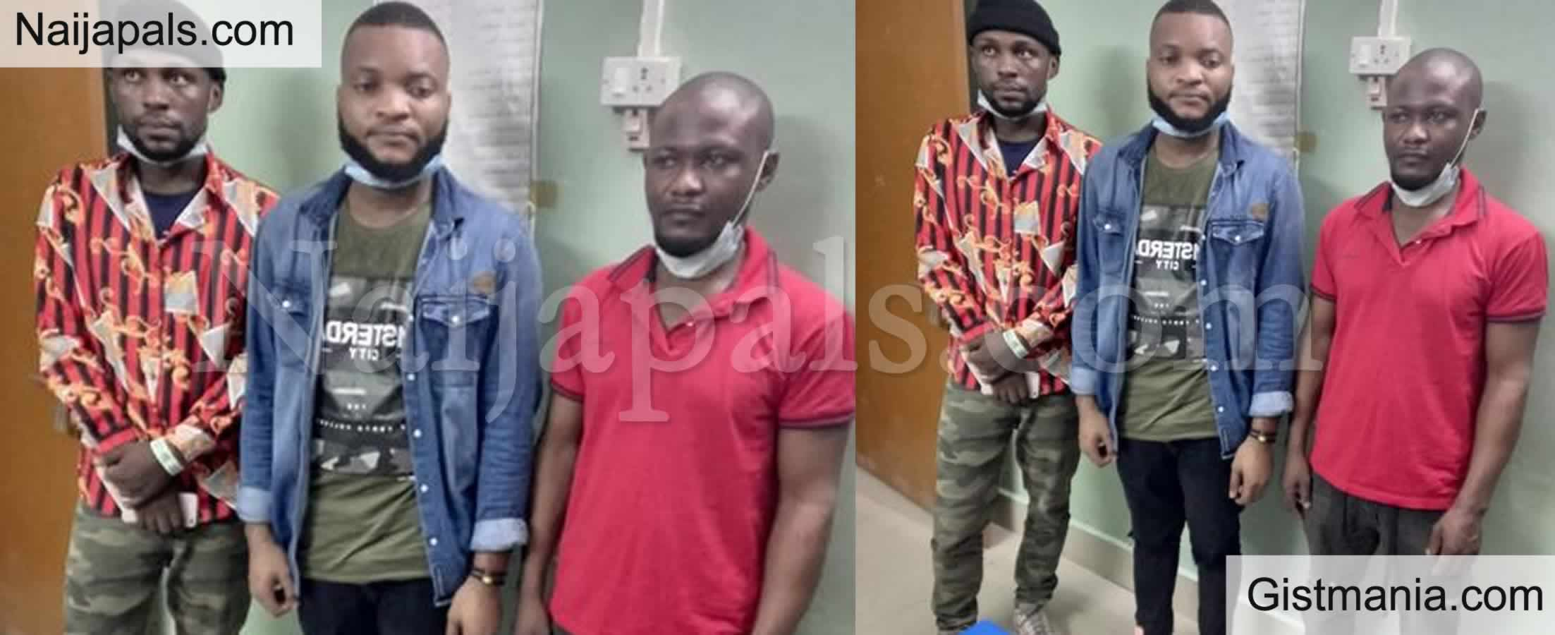 <img alt='.' class='lazyload' data-src='https://img.gistmania.com/emot/news.gif' /> PHOTOS: <b>3 Nigerians Nabbed After They Smuggled Themselves Into India With No Documents</b>