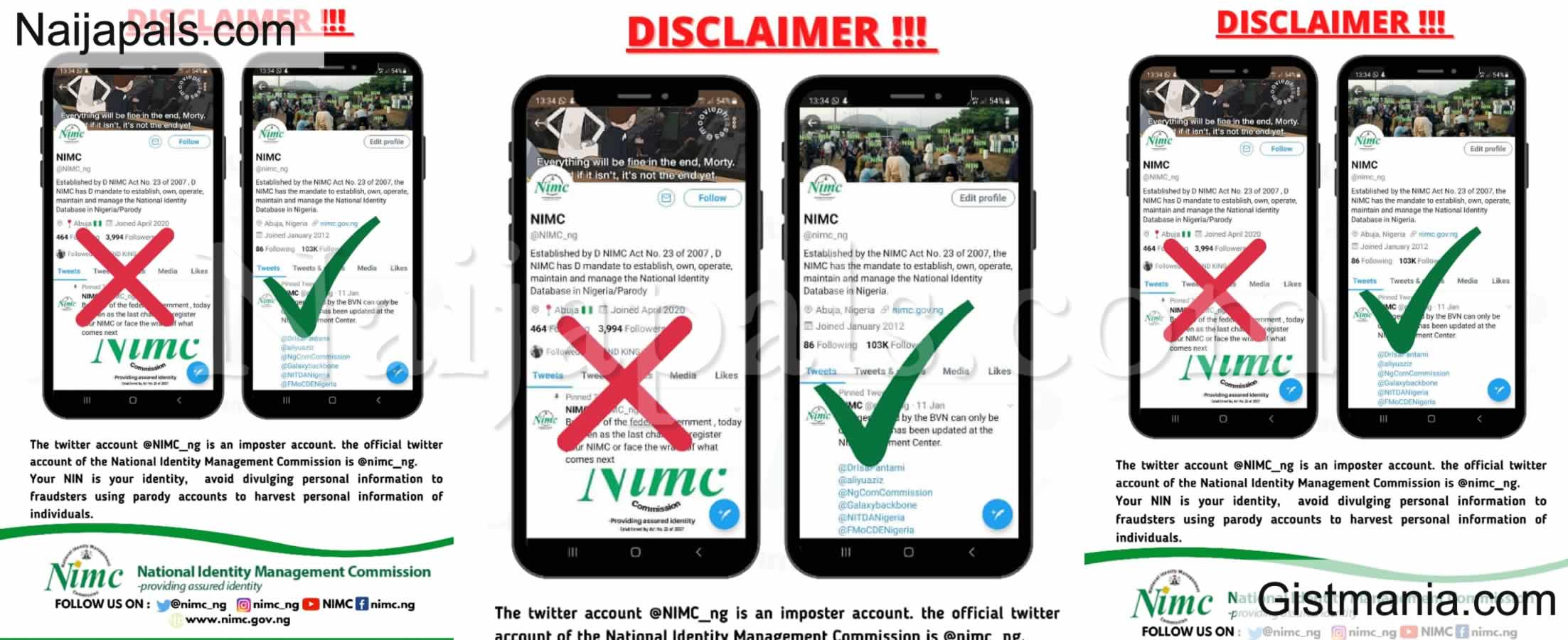 <img alt='.' class='lazyload' data-src='https://img.gistmania.com/emot/shocked.gif' /> <b>Crime Alert! NIMC Disowns Fake Twitter Account</b>