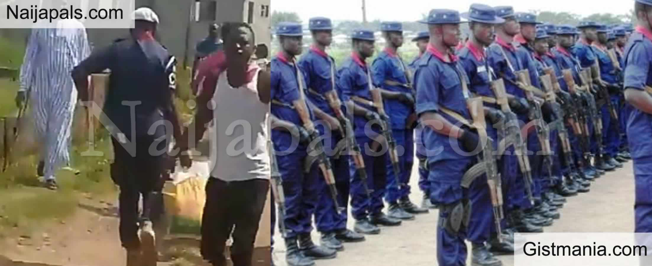 <img alt='.' class='lazyload' data-src='https://img.gistmania.com/emot/comment.gif' /> <b>NSCDC Dismisses Officer For Looting COVID-19 Palliatives In Abuja</b>