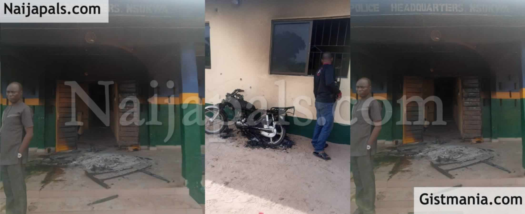 <img alt='.' class='lazyload' data-src='https://img.gistmania.com/emot/news.gif' /> BREAKING! <b>Gunmen Burn Nsukwa Police Headquarters In Delta, Kill Officers</b>