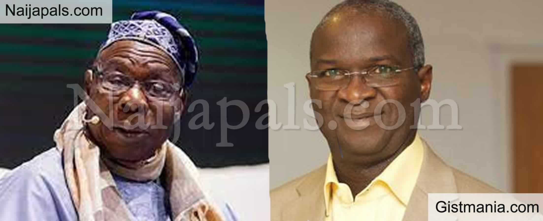 <img alt='.' class='lazyload' data-src='https://img.gistmania.com/emot/comment.gif' /> <b>$12bn Cash Payment To Service Foreign Debt In 2005, A Wrong Move - Fashola Condemns Obasanjo</b>