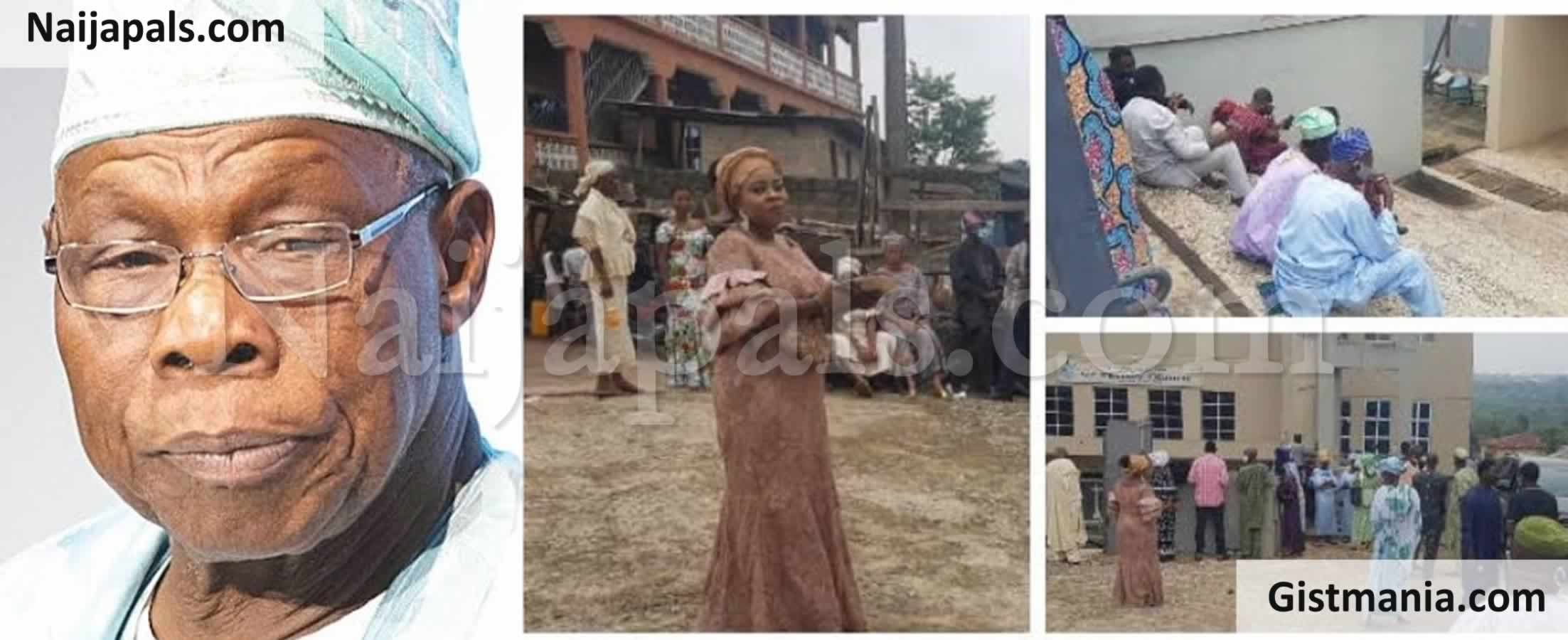 <img alt='.' class='lazyload' data-src='https://img.gistmania.com/emot/shocked.gif' /> DRAMA!<b> Ex-President, Olusegun Obasanjo Locks Mourners Outside At In-law's Burial In Ogun</b>