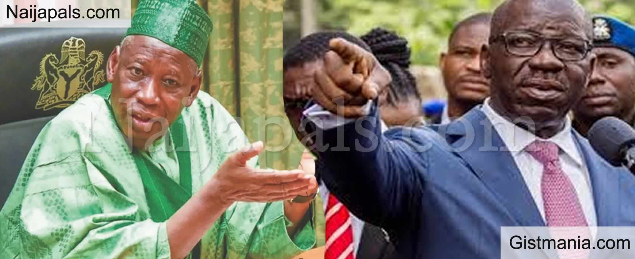 <img alt='.' class='lazyload' data-src='https://img.gistmania.com/emot/comment.gif' /> Edo 2020: <b>Obaseki Fires Back At Ganduje, Tells Him To Clear His Name Of Dollars' Video First</b>