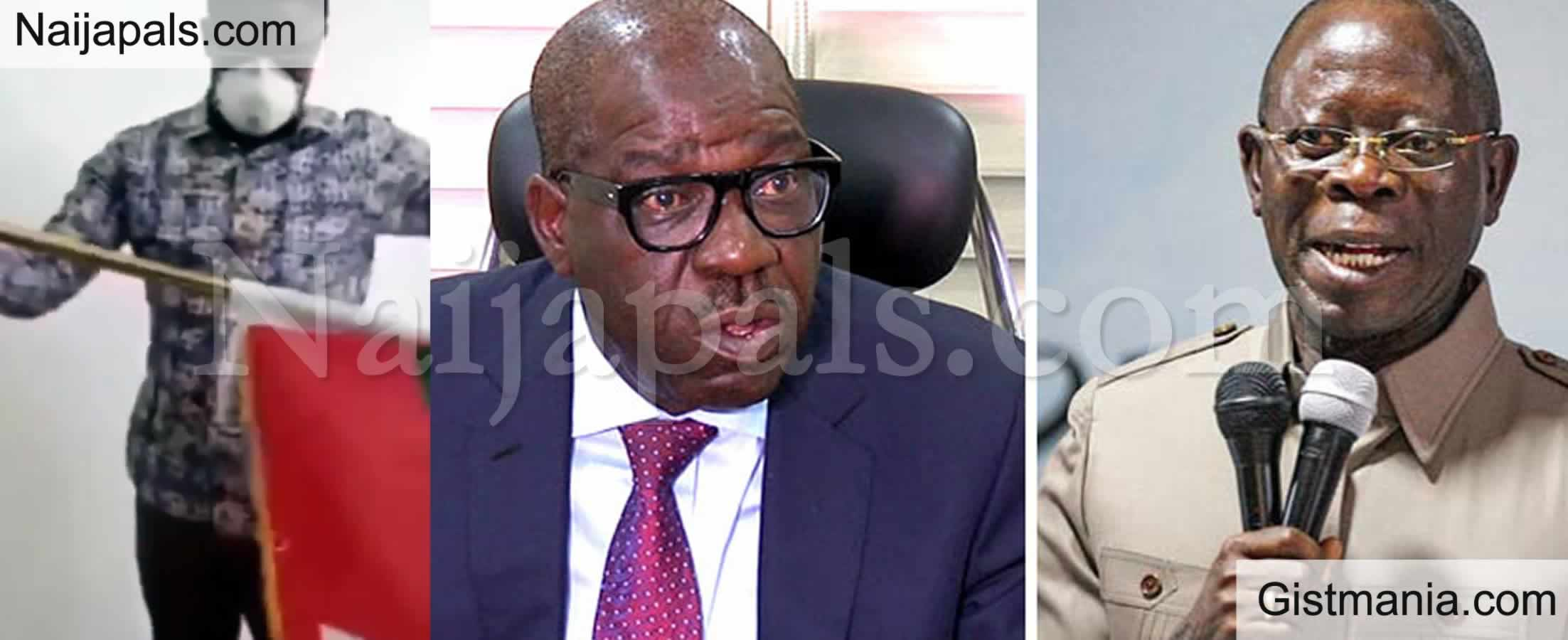 <img alt='.' class='lazyload' data-src='https://img.gistmania.com/emot/comment.gif' /> <b>No Mercy To Oshiomhole This Time Around If He Misbehaves</b> - Obaseki Declares