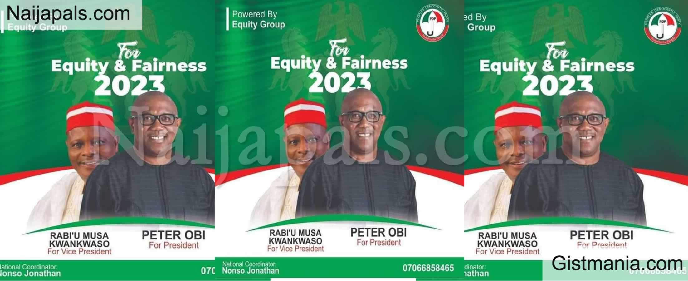 <img alt='.' class='lazyload' data-src='https://img.gistmania.com/emot/photo.png' /> 2023: <b>Campaign Poster Peter Obi For President, Kwankwaso For VP Surfaces</b>