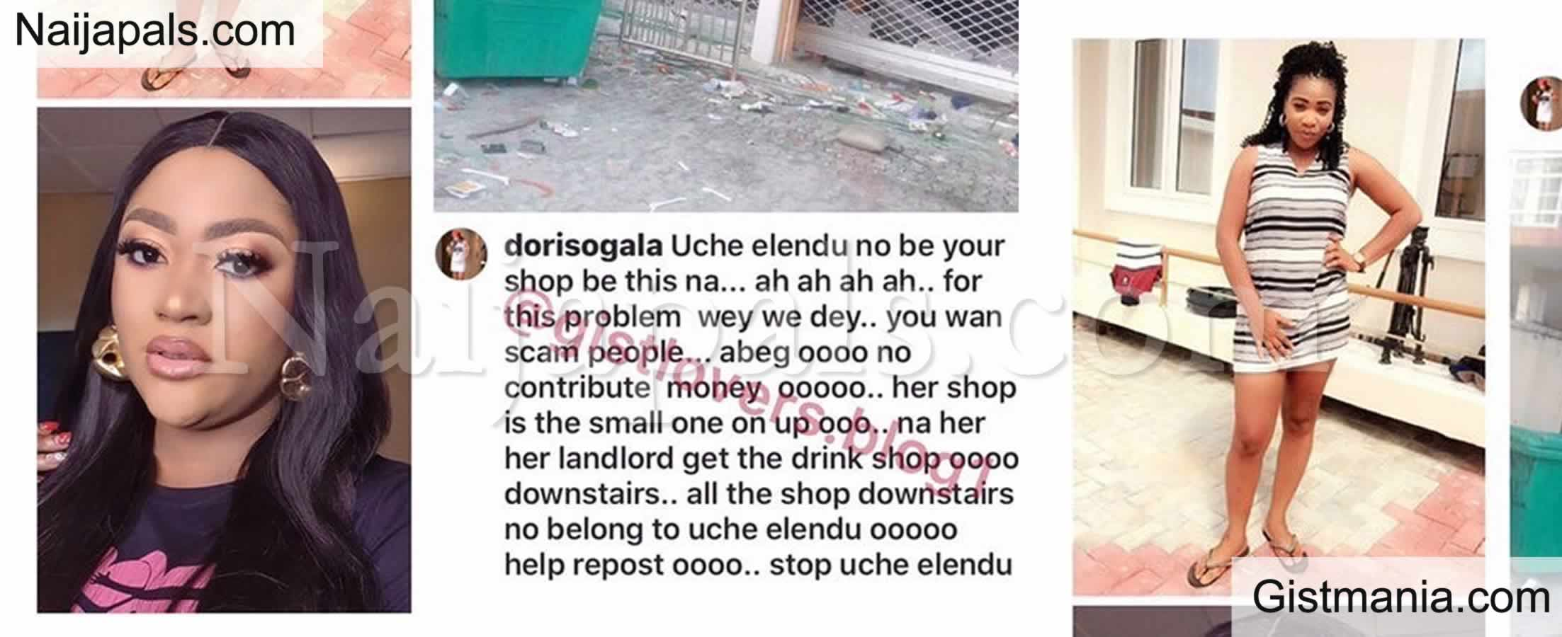 <img alt='.' class='lazyload' data-src='https://img.gistmania.com/emot/comment.gif' /> <b>Uche Elendu Sets Up GoFundMe Account For Looted Shop Despite Being Called Out By Doris Ogala</b>