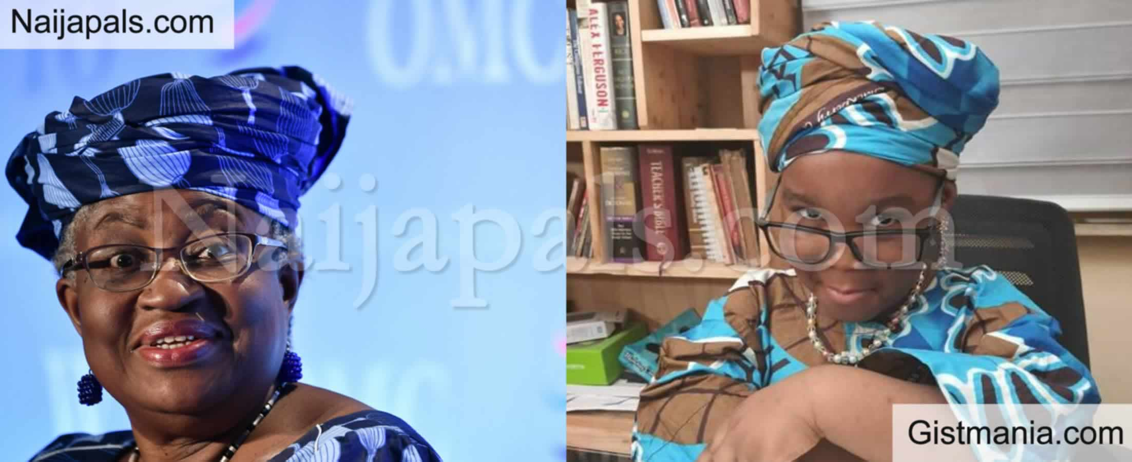 <img alt='.' class='lazyload' data-src='https://img.gistmania.com/emot/photo.png' /><b>Okonjo-Iweala Honours 4-year-old Girl Who Dressed to Look Like Her (Photo)</b>