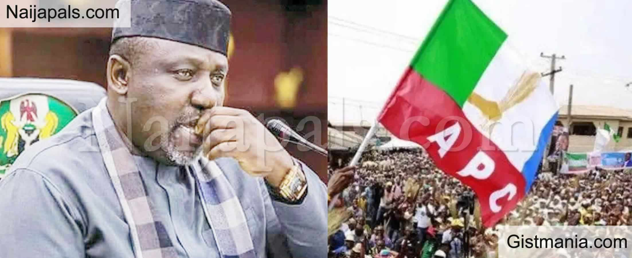 <img alt='.' class='lazyload' data-src='https://img.gistmania.com/emot/comment.gif' /> <b>APC Is No More In Nigeria, The Party Is Dead, Respect For Buhari Is Left </b>- Okorocha Rants