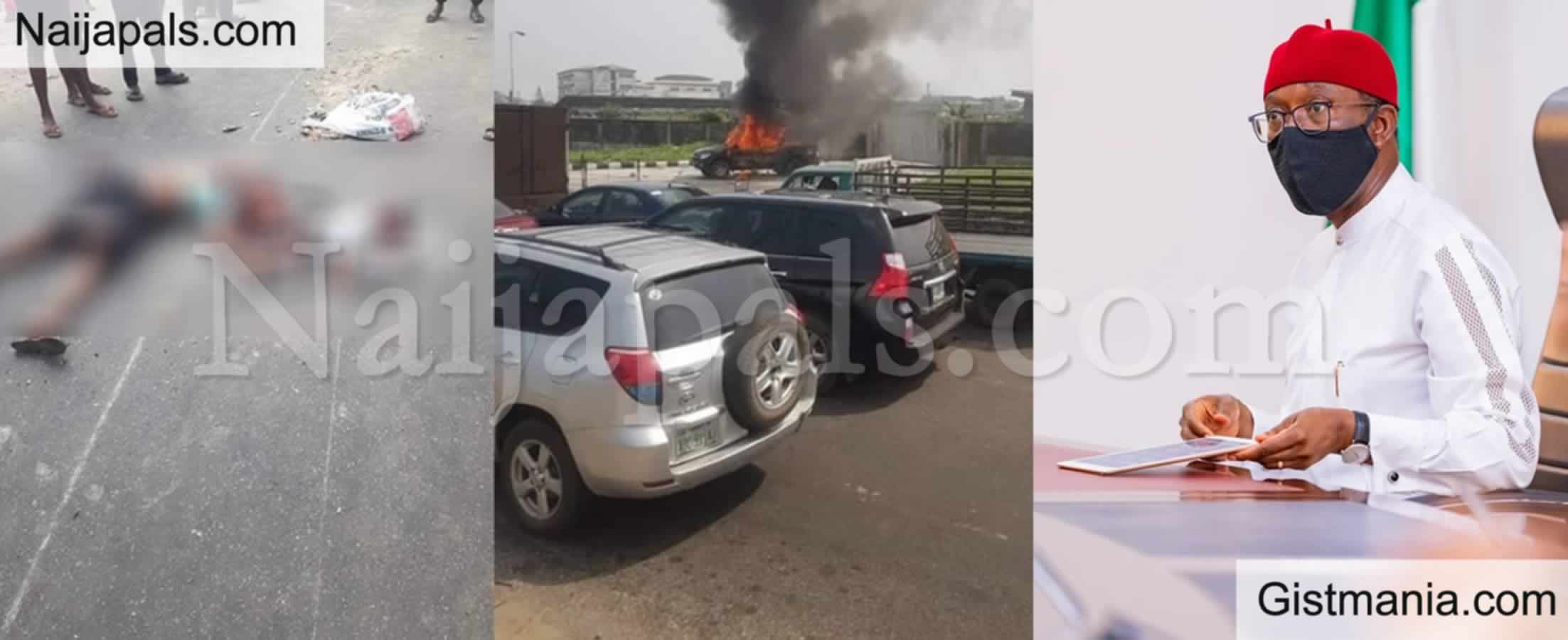 <img alt='.' class='lazyload' data-src='https://img.gistmania.com/emot/shocked.gif' /> <b>Delta Gov. Ifeanyi Okowa Orders Investigation Over Death Of Mother & Child Killed By Police Van</b>