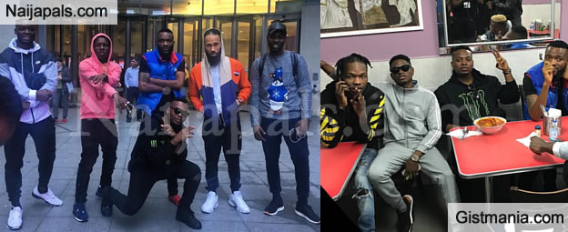 Photos Of Olamide, Phyno And Thier Entourage Paying A Visit