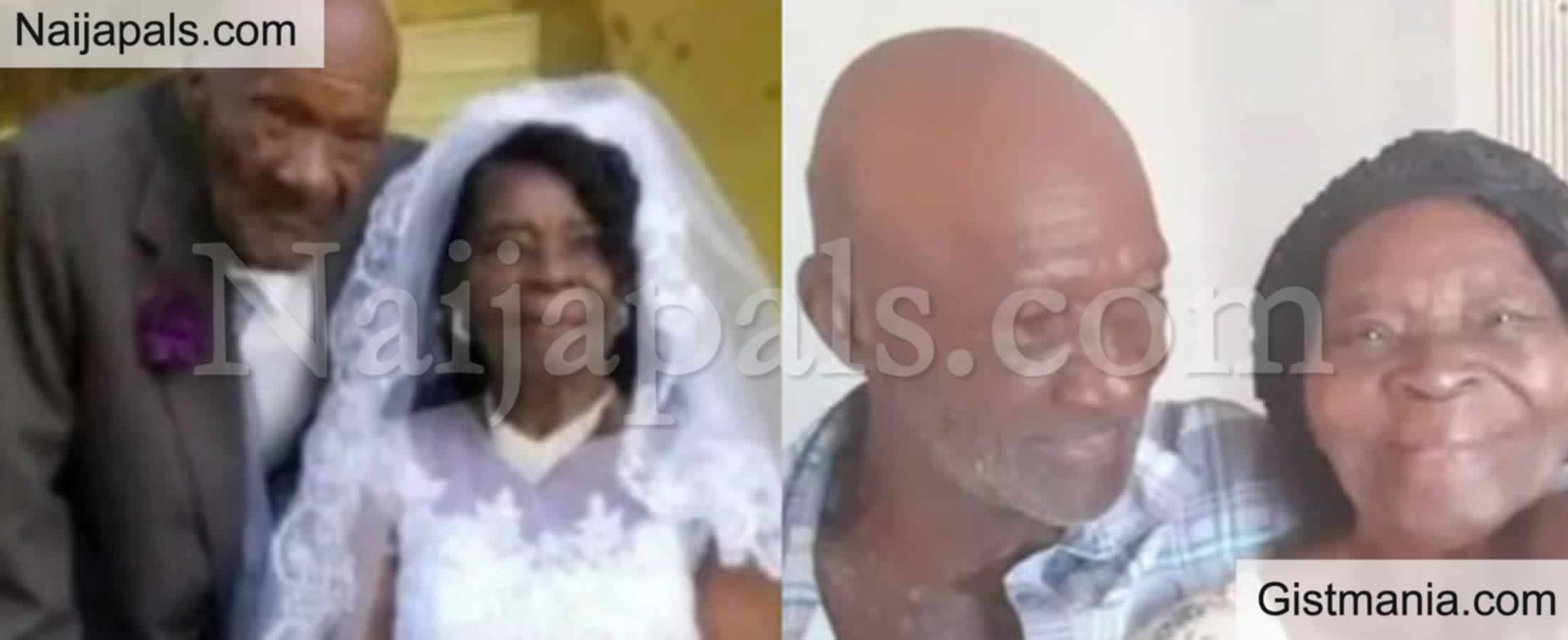 <img alt='.' class='lazyload' data-src='https://img.gistmania.com/emot/love.gif' /> Awwnn! <b>91-Year-Old Woman Ties Wedding Knot With 73-Year-Old Man</b> After Dating For 10 Years -Photo