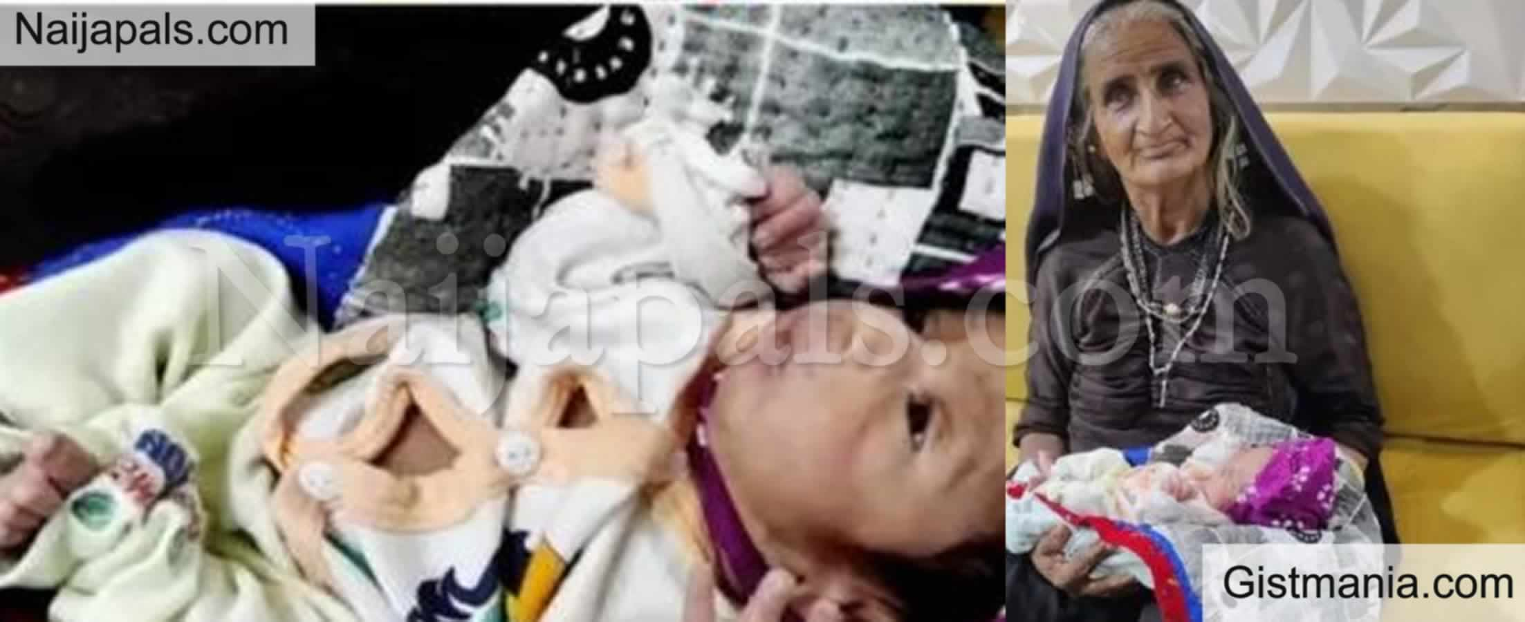 <img alt='.' class='lazyload' data-src='https://img.gistmania.com/emot/shocked.gif' /> Wow!<b> Indian Woman Gives Birth To Her First Child At The Age Of 70</b> (PHOTOS)