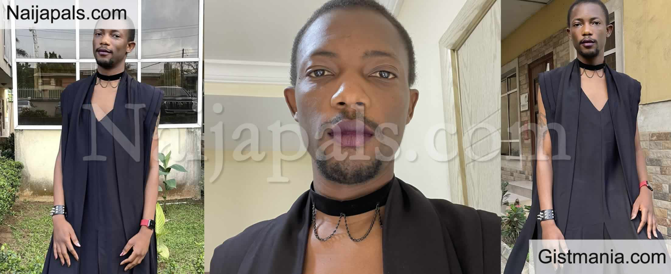 <img alt='.' class='lazyload' data-src='https://img.gistmania.com/emot/shocked.gif' /> <b>Paystack Co-founder, Ezra Olubi Causes Stir With His Awkward Outfit to a Wedding Ceremony</b>
