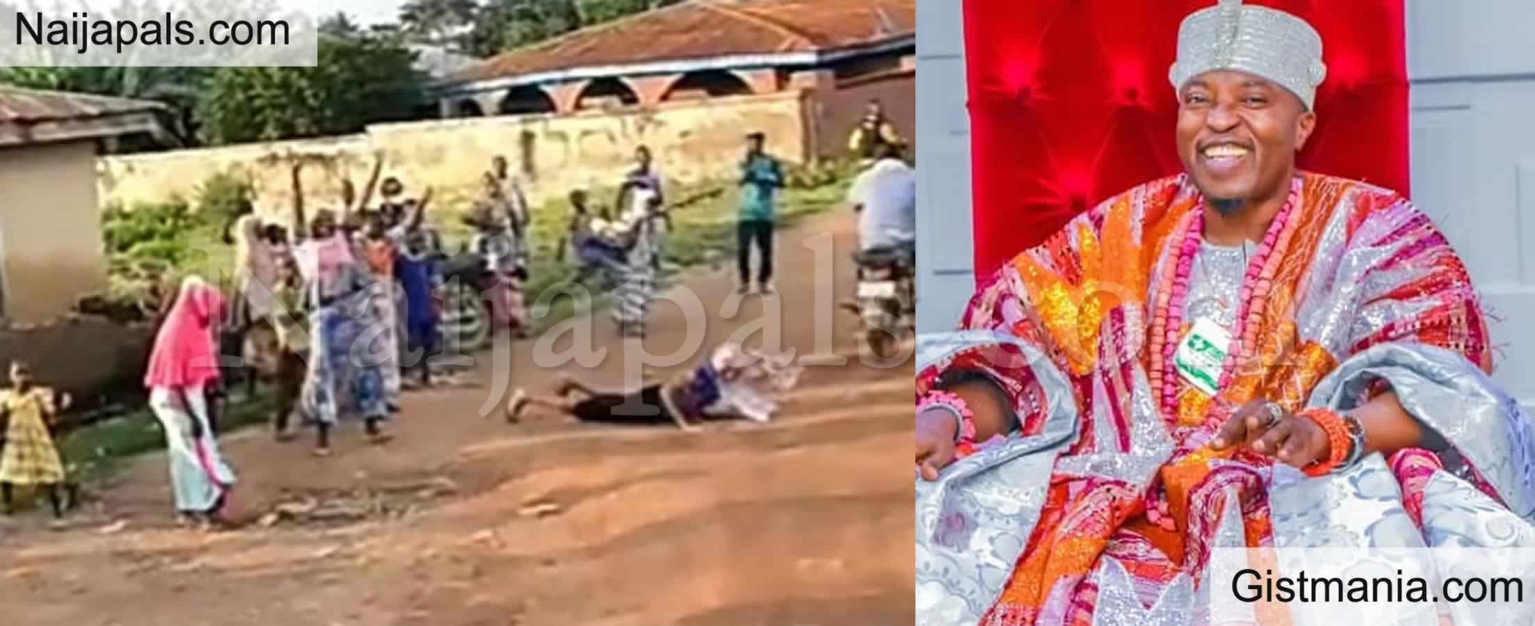 <img alt='.' class='lazyload' data-src='https://img.gistmania.com/emot/video.gif' /> I am The Same With God - <b>Oluwo Of Iwo Brags After Woman Threw Herself On The Road To Greet Him</b>