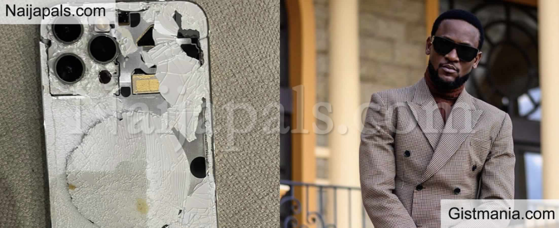 """<img alt='.' class='lazyload' data-src='https://img.gistmania.com/emot/comment.gif' /> <b>""""How I Fought Off Armed Robbers"""" – BBNaija, Omashola Says As He Shows Off His Broken Phone</b>"""