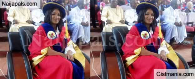 Congratulations! Nollywood Actress, Omotola Bags Honorary