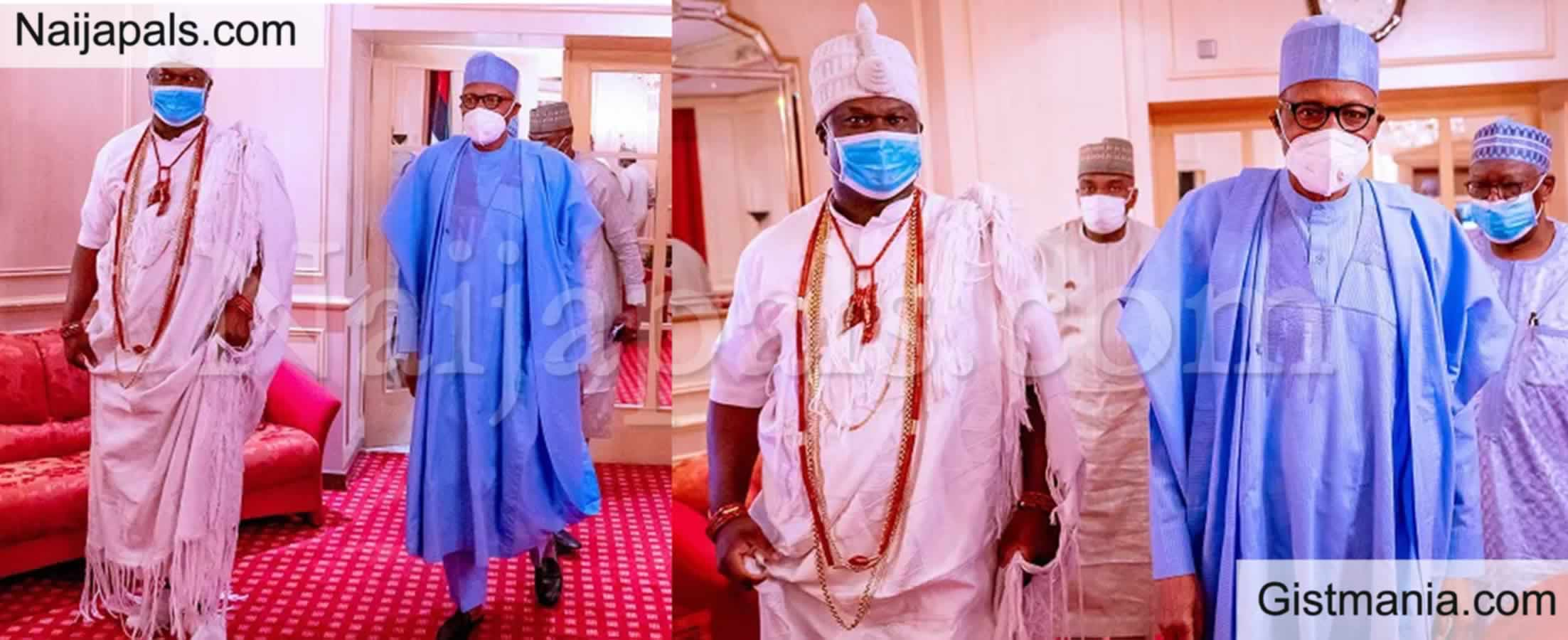 <img alt='.' class='lazyload' data-src='https://img.gistmania.com/emot/news.gif' /> <b>Ooni Of Ife Meets With President Buhari In Aso Rock Over Ethnic Tension In The South West</b>