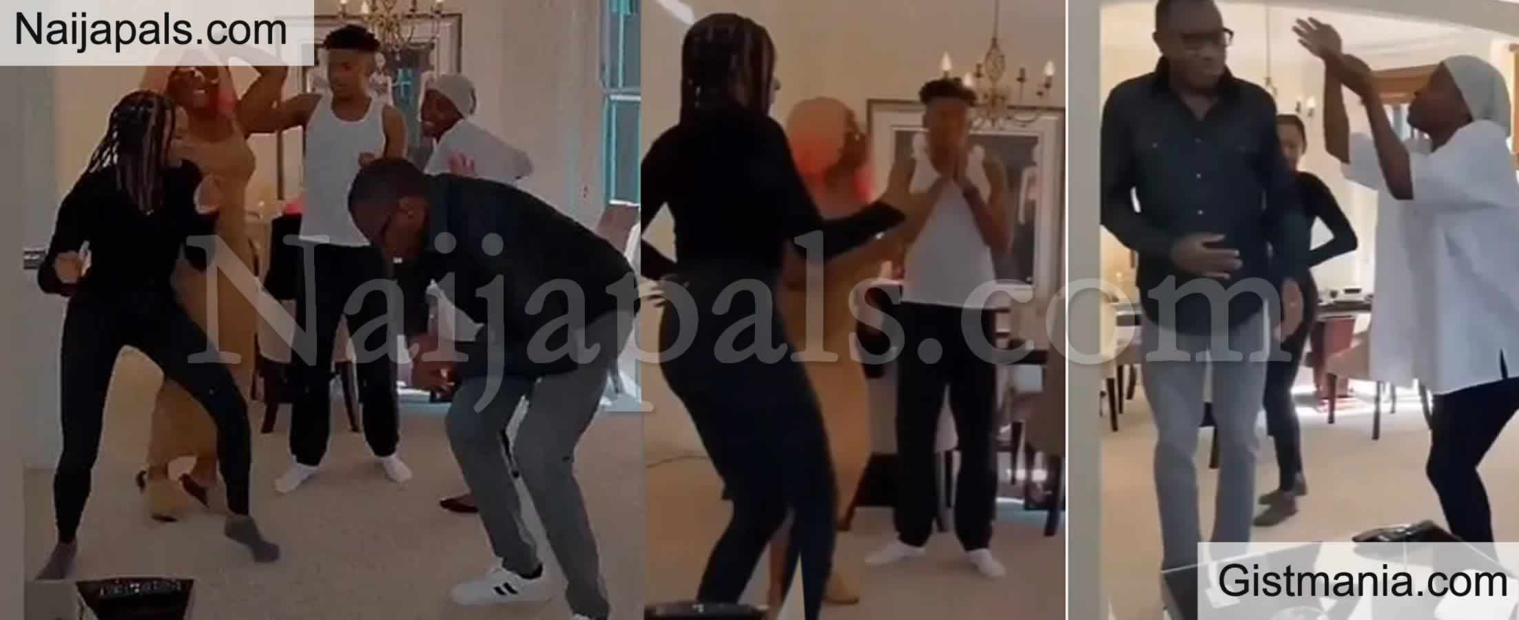 <img alt='.' class='lazyload' data-src='https://img.gistmania.com/emot/video.gif' /> Father of The Year! <b>Billionaire Femi Otedola Displays His Dance Moves With His Children</b> (VID)