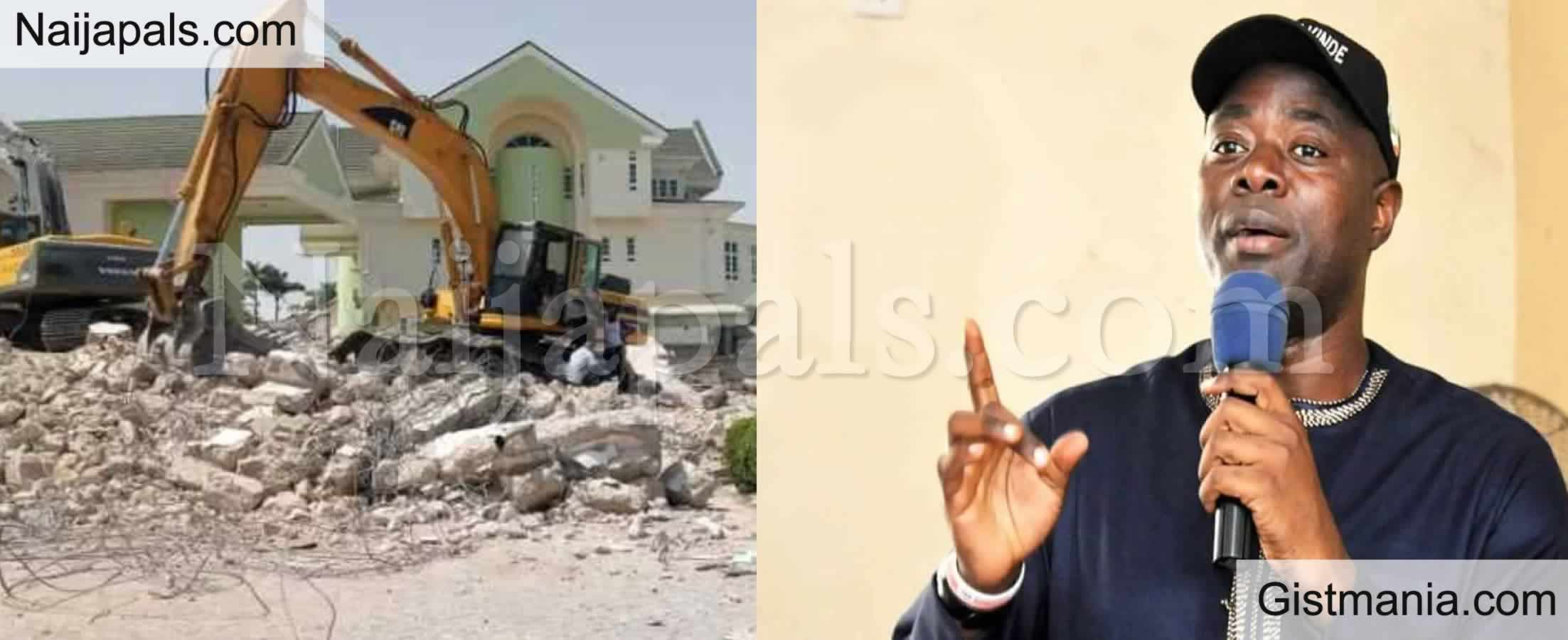 <img alt='.' class='lazyload' data-src='https://img.gistmania.com/emot/comment.gif' /> BREAKING: <b>Oyo State Gov. Makinde Orders Demolition Of Oyo State House In Abuja</b> (Photos)