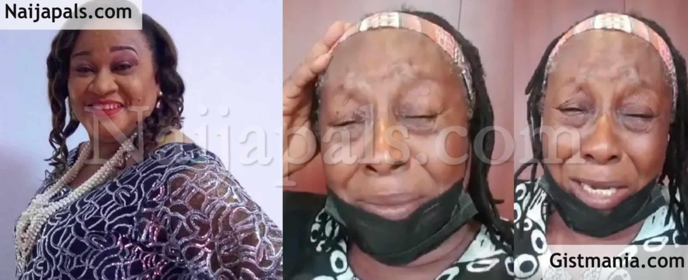 <img alt='.' class='lazyload' data-src='https://img.gistmania.com/emot/cry.gif' /><img alt='.' class='lazyload' data-src='https://img.gistmania.com/emot/video.gif' /> <b>Actress, Patience Ozokwo Breaks Down In Tears As She Mourns Her Friend, Rachel Oniga</b> (Video)
