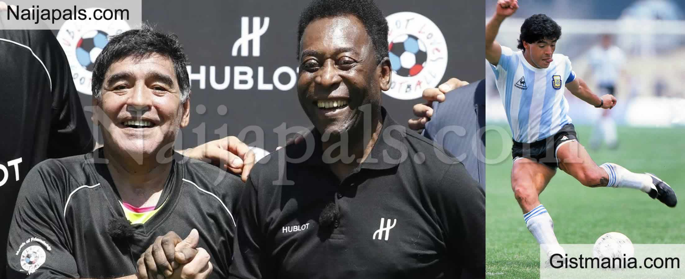 <img alt='.' class='lazyload' data-src='https://img.gistmania.com/emot/news.gif' /> <b>We'll Kick A Ball Together In The Sky Above - Brazil Legend, Pele Reacts To Death Of Maradona</b>