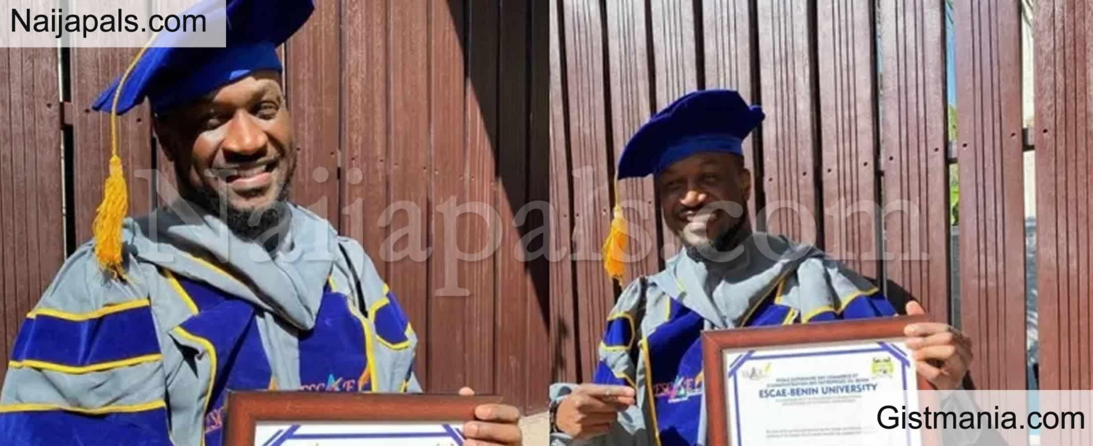 <img alt='.' class='lazyload' data-src='https://img.gistmania.com/emot/news.gif' /><b>Peter Okoye Bags Honorary Doctorate Degree From Escae-Benin University, Benin Republic</b>