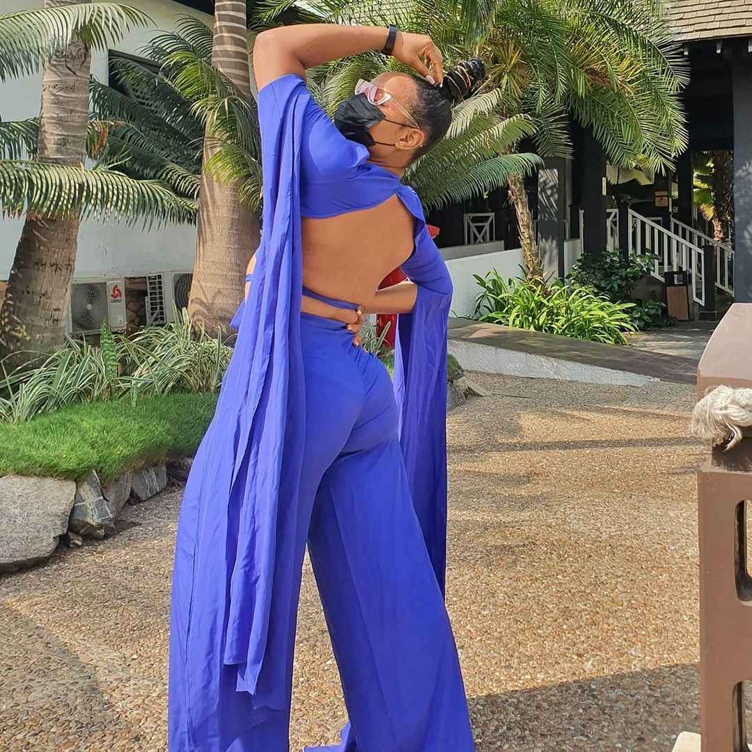 Image result for Yemi Alade Looks All Gorgeous On Blue As She Displays Her Butt (Photos)