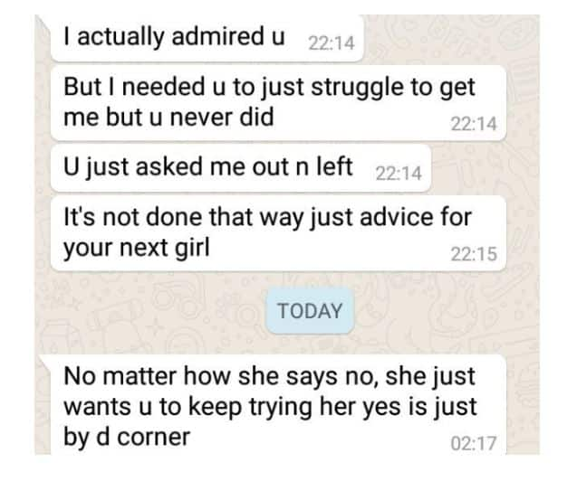Twitter User Shares Screenshot He Received From An Old Crush