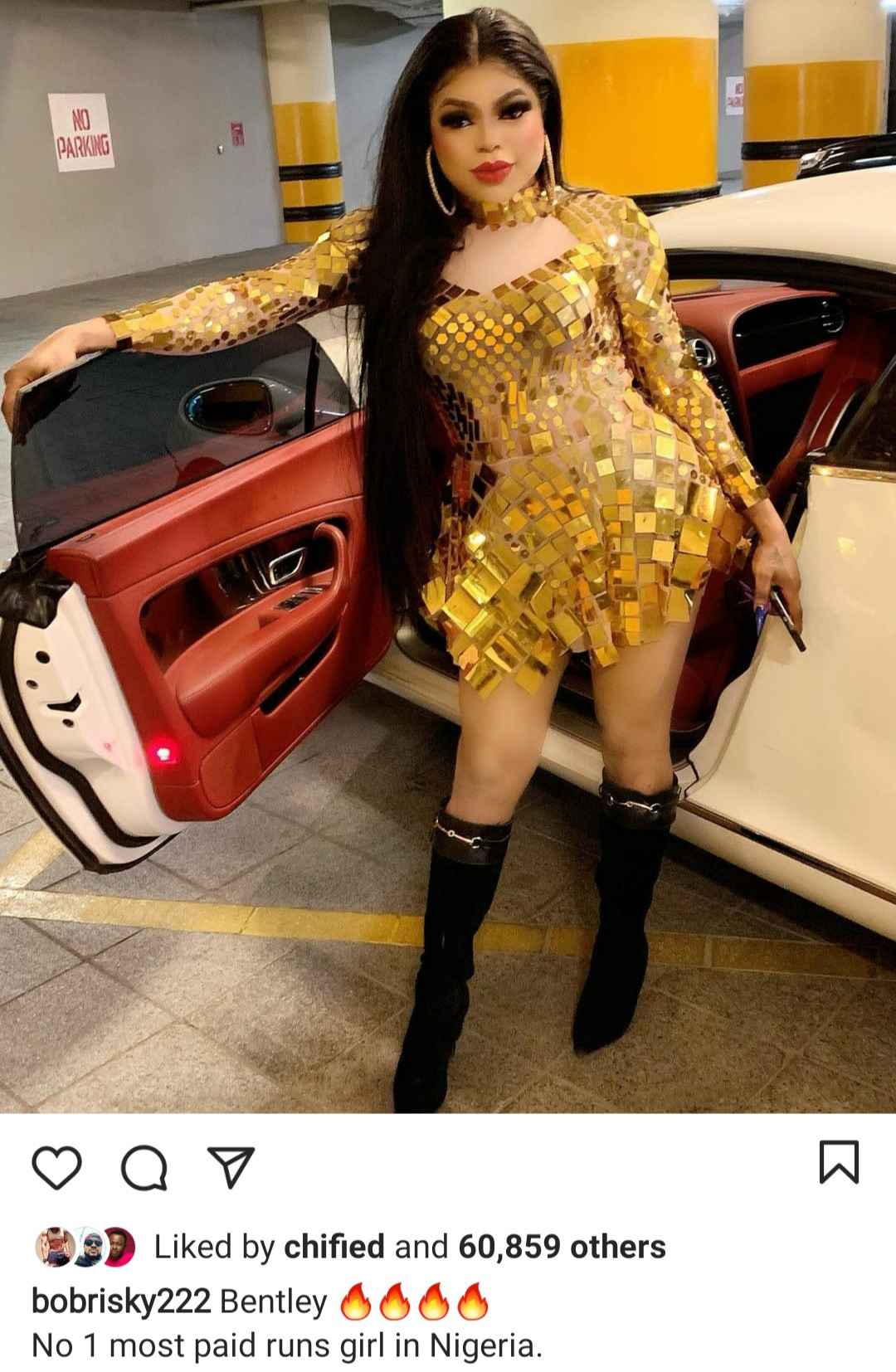 Women Give Up, I've Taken Over Your Gender - Bobrisky Brags As He Displays His New Bentley - Gistmania