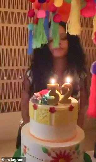 Swell Photos From Rihannas 32Nd Birthday Party With Friends And Family Funny Birthday Cards Online Kookostrdamsfinfo