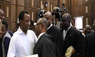 Image result for Sowore arrives court with #RevolutionNow chants