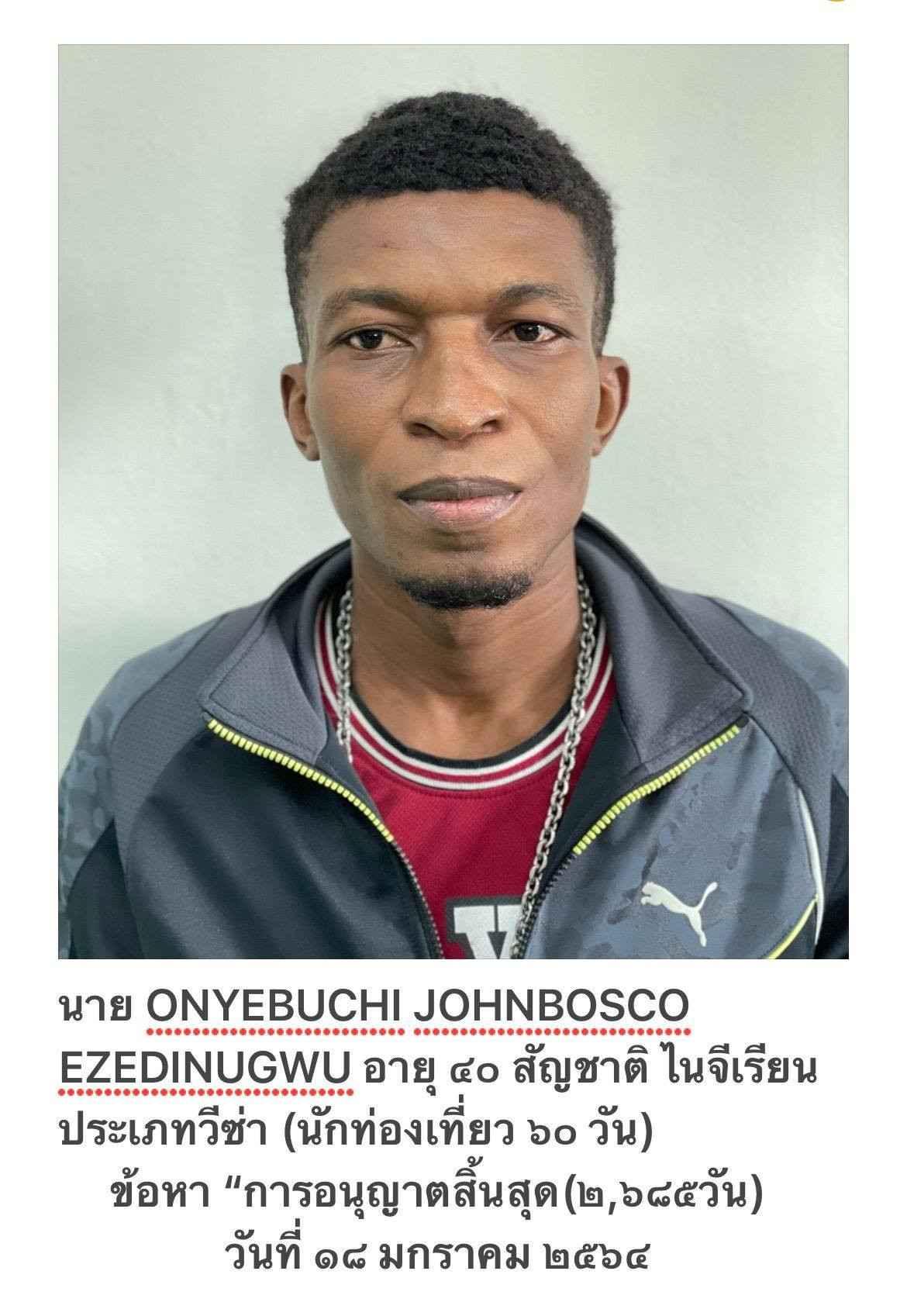 <img alt='.' class='lazyload' data-src='https://img.gistmania.com/emot/photo.png' /><img alt='.' class='lazyload' data-src='https://img.gistmania.com/emot/shocked.gif' /> PHOTOS: <b>Nigerian Man, Onyebuchi Johnbosco Arrested In Thailand For Overstaying His Visa</b>