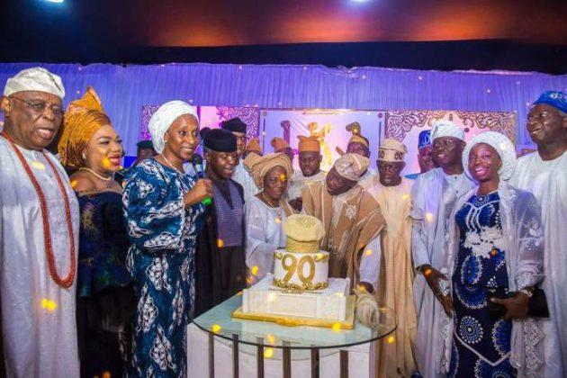 VP Osinbajo, Tinubu, Sanwo-Olu Attends 90th Birthday