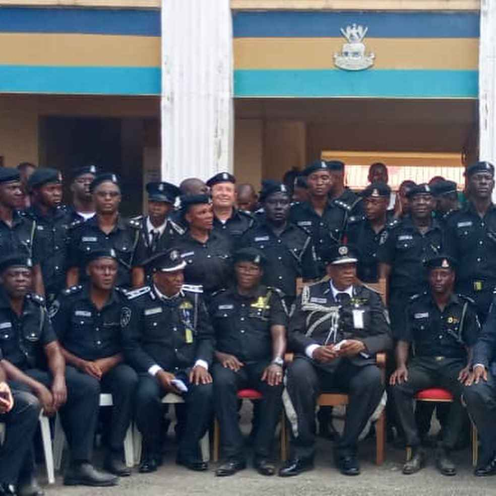 White Man Seen At Recent Passing Out Of SPY Police At Police College Ikeja, Lagos