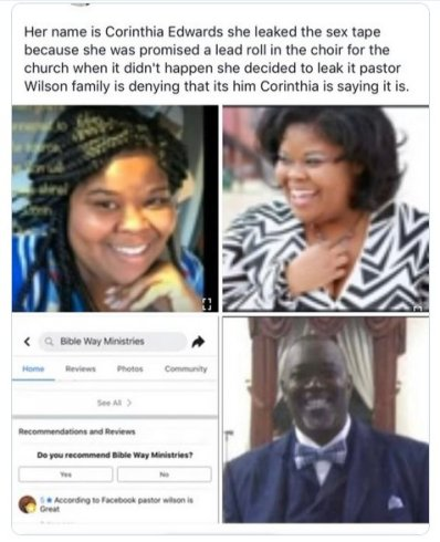 PHOTOS: Meet The Lady In Pastor Wilson's Leaked Sex Tape 3