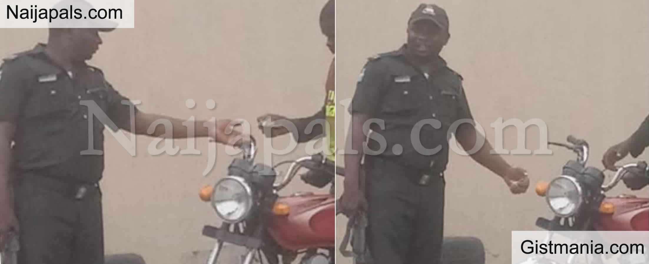 <img alt='.' class='lazyload' data-src='https://img.gistmania.com/emot/comment.gif' /> PHOTO:<b> Police Officer Caught Extorting A Motorcyclist Set To Face Trial In Lagos</b>