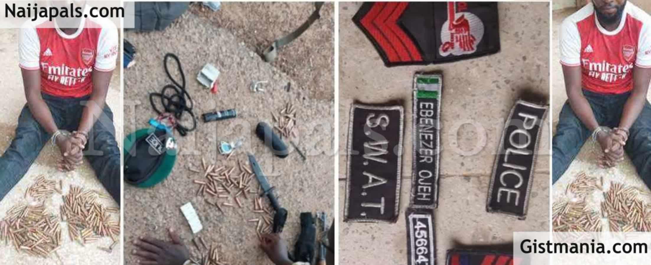 <img alt='.' class='lazyload' data-src='https://img.gistmania.com/emot/news.gif' /> <b>Army Arrests 'Nigeria Police SWAT Officer', Ebenezer Odeh With Ammunition, Grenade In Borno</b>