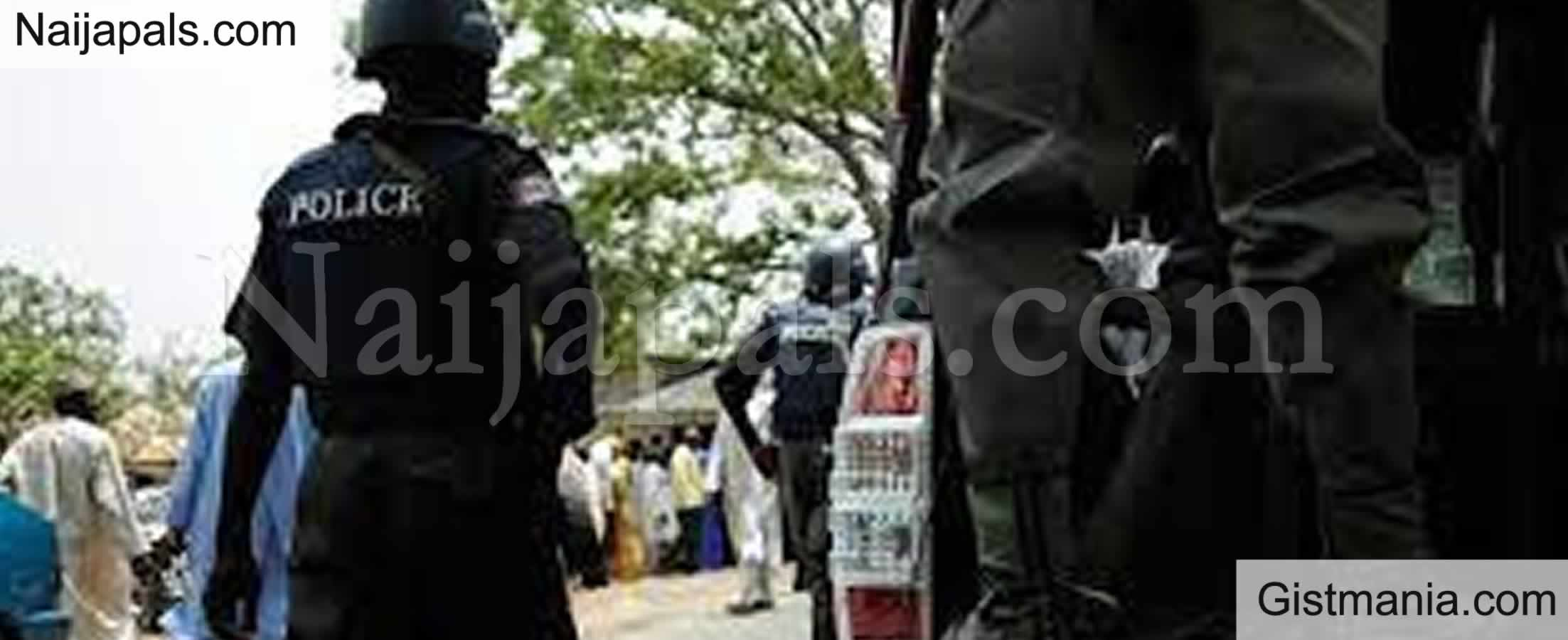 <img alt='.' class='lazyload' data-src='https://img.gistmania.com/emot/comment.gif' /> <b>Panic Striken As Protester Stabs Police Officer To Death In Abuja</b>