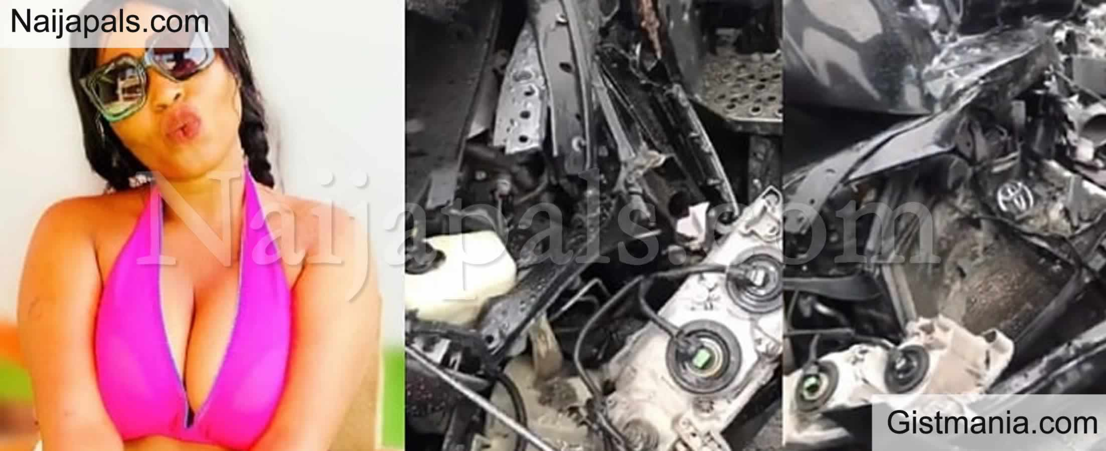 <img alt='.' class='lazyload' data-src='https://img.gistmania.com/emot/comment.gif' /> <b>Nigerian Woman, 'Poshnicki' In Tears As Trailer Crushes Her Less Than 2-Month-Old SUV</b> (Video)