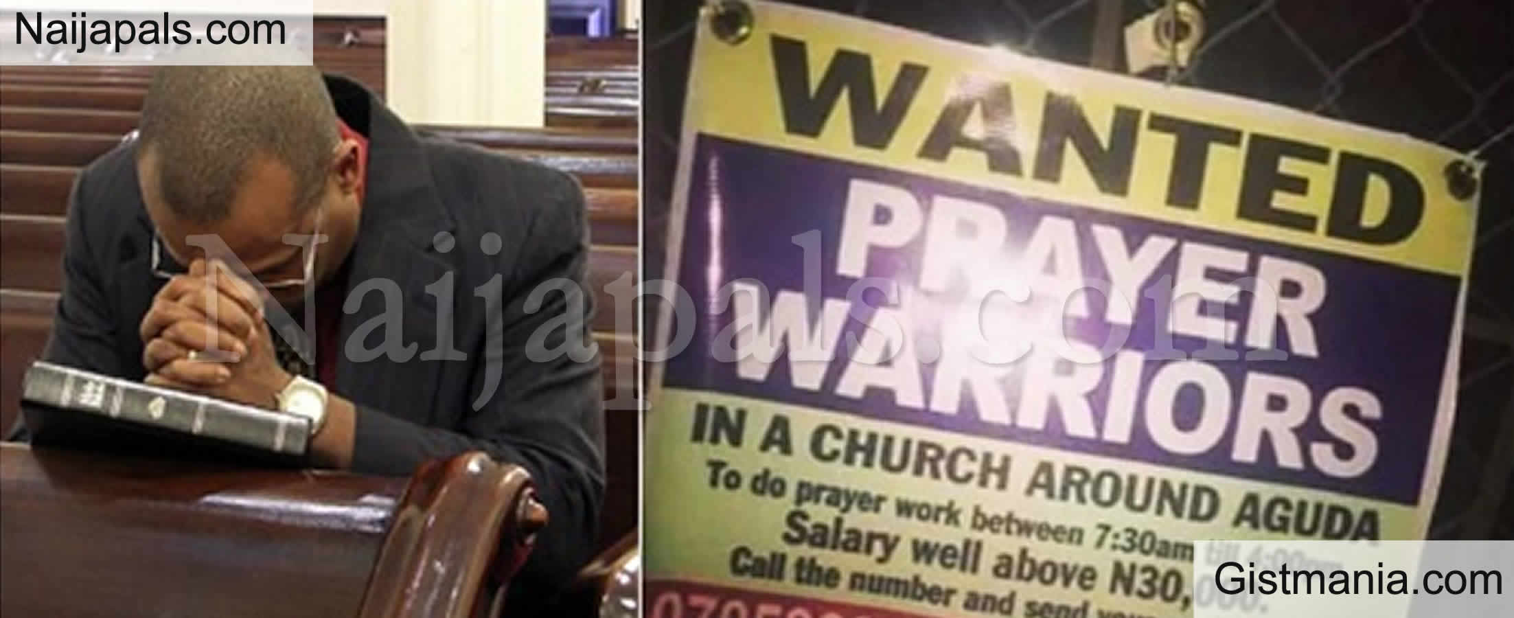 <img alt='.' class='lazyload' data-src='https://img.gistmania.com/emot/shocked.gif' /> PHOTO:<b> Lagos Church Wants Unemployed Nigerians To Apply For Prayer Warrior Post, N30k Salary</b>