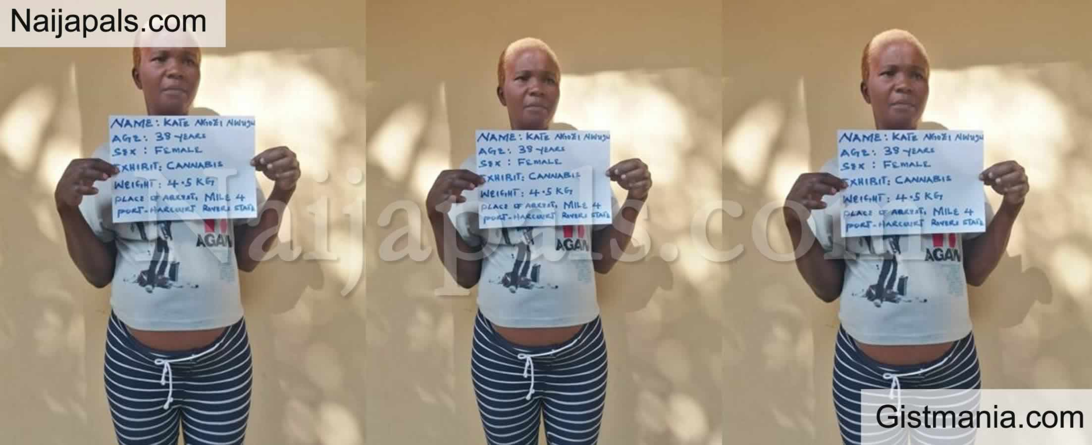 <img alt='.' class='lazyload' data-src='https://img.gistmania.com/emot/comment.gif' /> <b>Pregnant Woman Kate Nwuju Arrested By NDLEA After Being Caught With Illicit Drugs In Rivers</b>