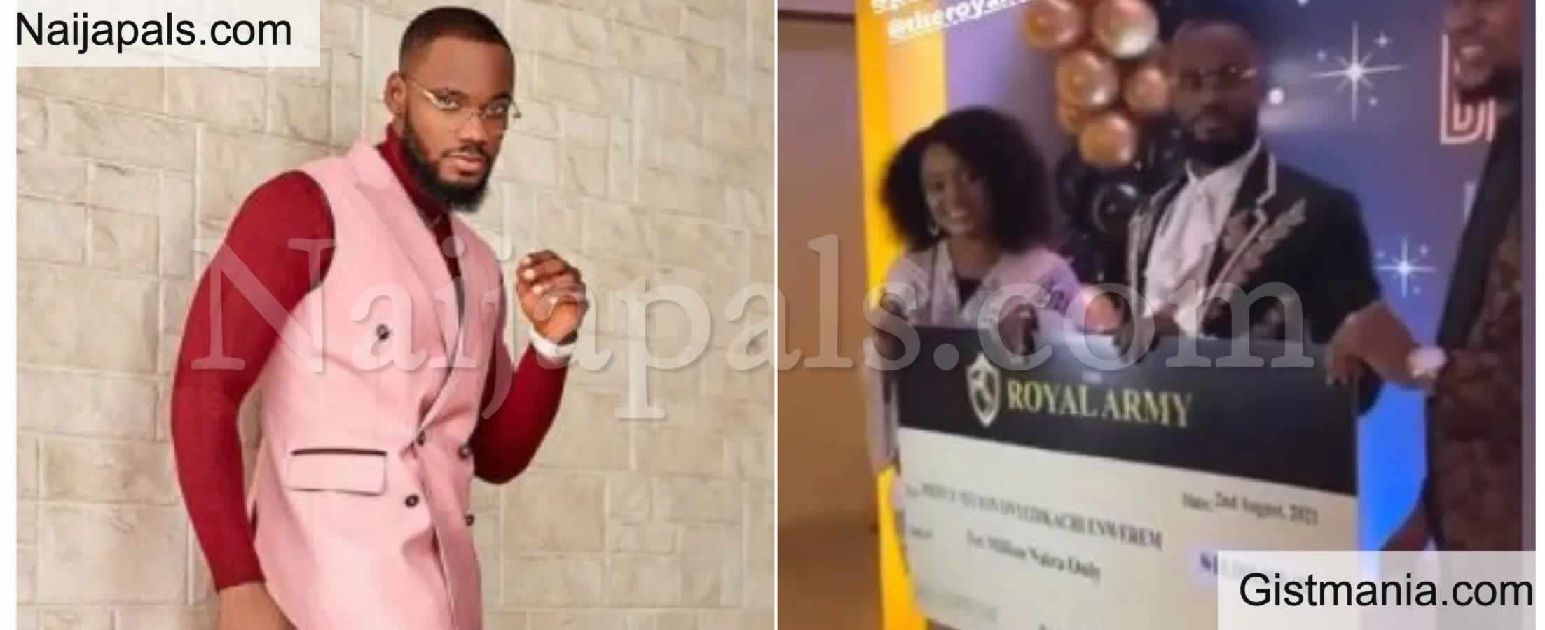 <img alt='.' class='lazyload' data-src='https://img.gistmania.com/emot/video.gif' /> <b>BBNaija's Prince Gets a cheque of 10 Million Naira As Birthday Gift From Fans</b> (VIDEO)