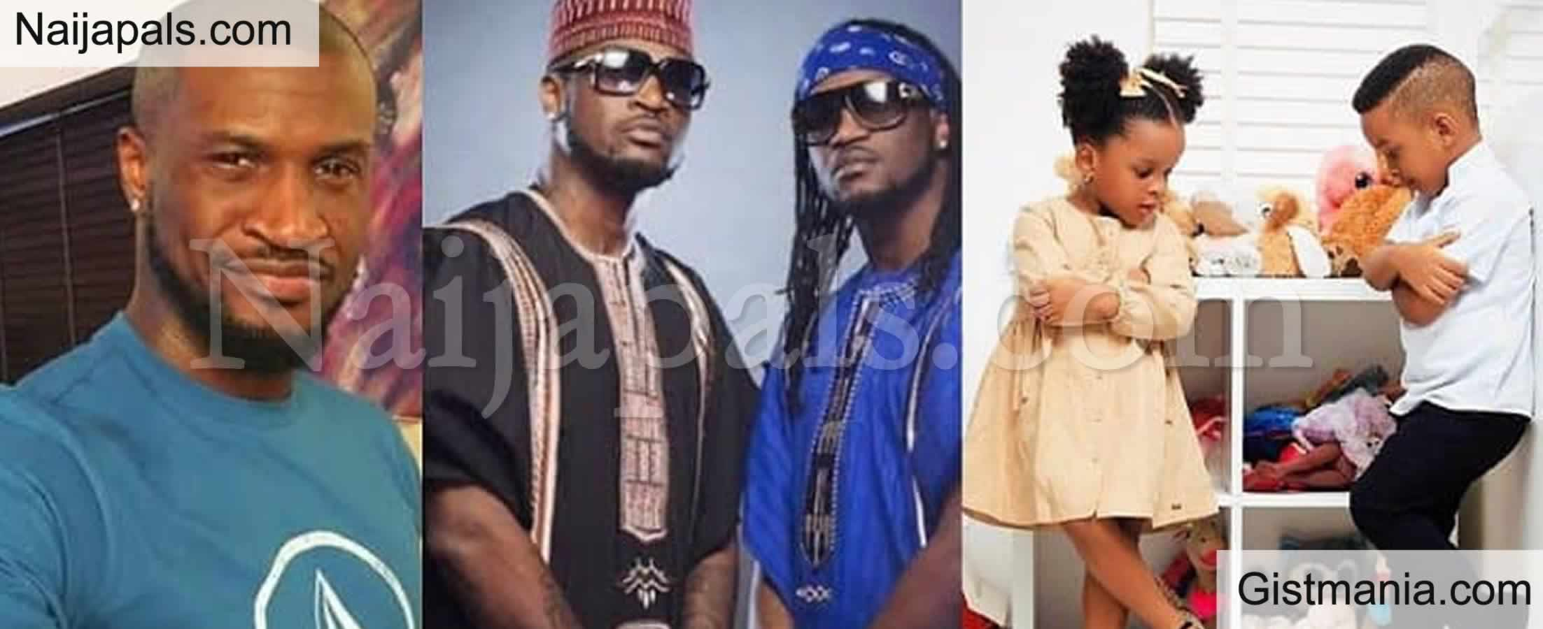 <img alt='.' class='lazyload' data-src='https://img.gistmania.com/emot/cake.png' /> Grudges Aside! <b>Peter Okoye Celebrates His Twin Brother, Paul's Twins On Their Birthday</b>