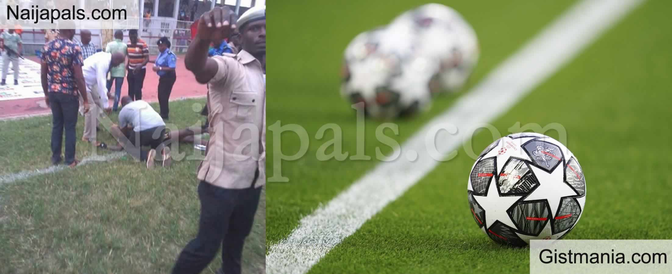 <img alt='.' class='lazyload' data-src='https://img.gistmania.com/emot/shocked.gif' /> <b>Referee, Haruna Beaten To Coma By Irate Fans, As Kogi FA Chairman Cup Turns Bloody</b>