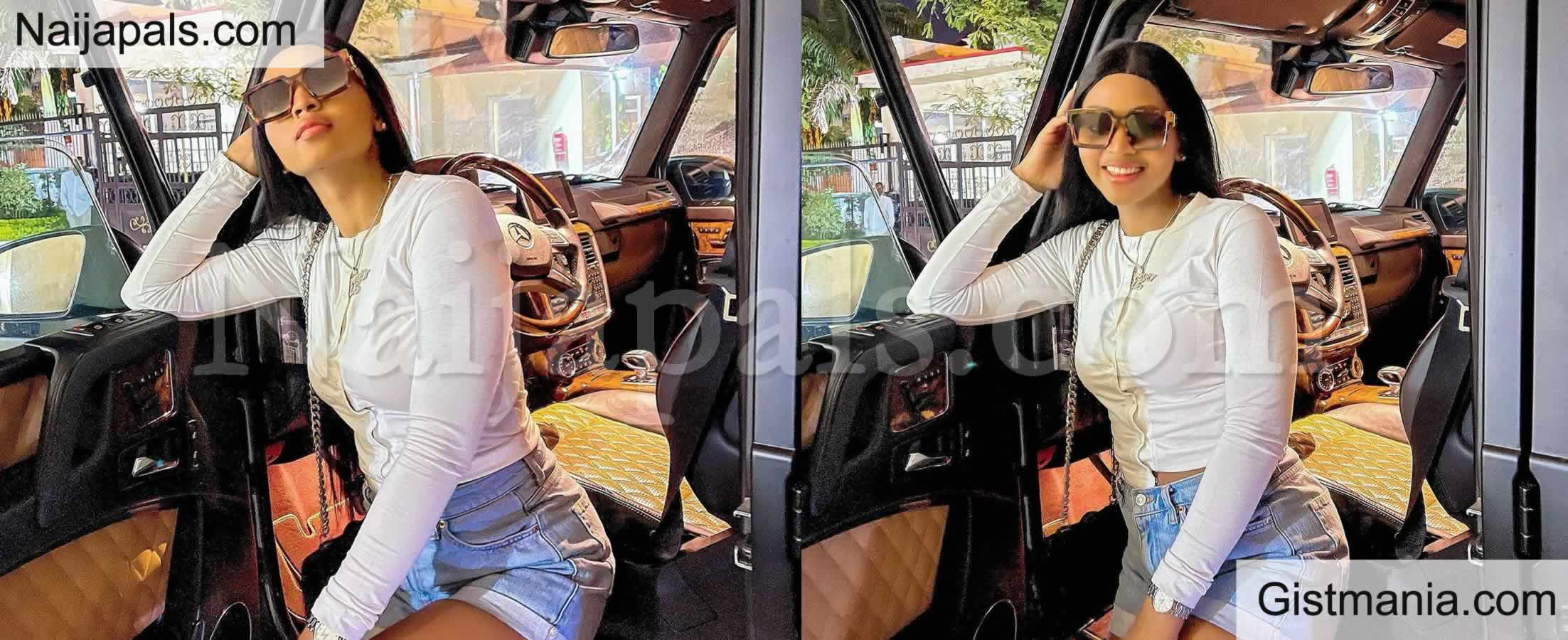 <img alt='.' class='lazyload' data-src='https://img.gistmania.com/emot/photo.png' /> <b>Actress Regina Daniels Shares New Beautiful Photos As She Poses With Her New Mercedes-Benz G-Wagon</b> (PHOTOS)