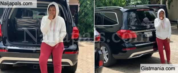 Photo: Rave of the Moment, Regina Daniels Wakes Up To Another Beautiful Gift Of A Mercedes Benz