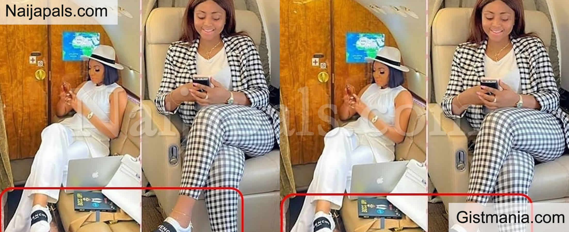<img alt='.' class='lazyload' data-src='https://img.gistmania.com/emot/photo.png' /> <b>Nwoko's Wife, Regina Daniels & Alleged Rivals, Chika Ike Rock Same Givenchy Shoes In New Photo</b>