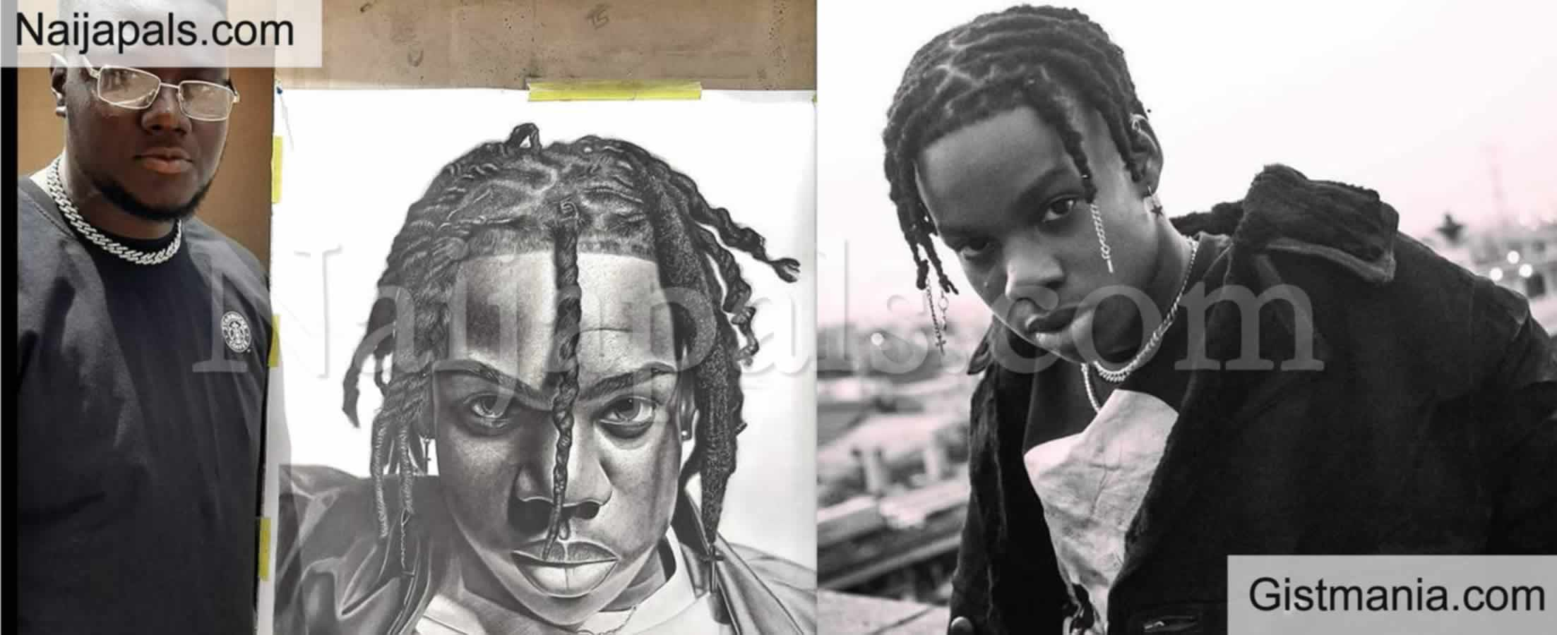 <img alt='.' class='lazyload' data-src='https://img.gistmania.com/emot/comment.gif' /> PHOTO: <b>Singer, Rema Gifts Artist The Sum Of N200k For Drawing A Pencil Sketch Of Him</b>