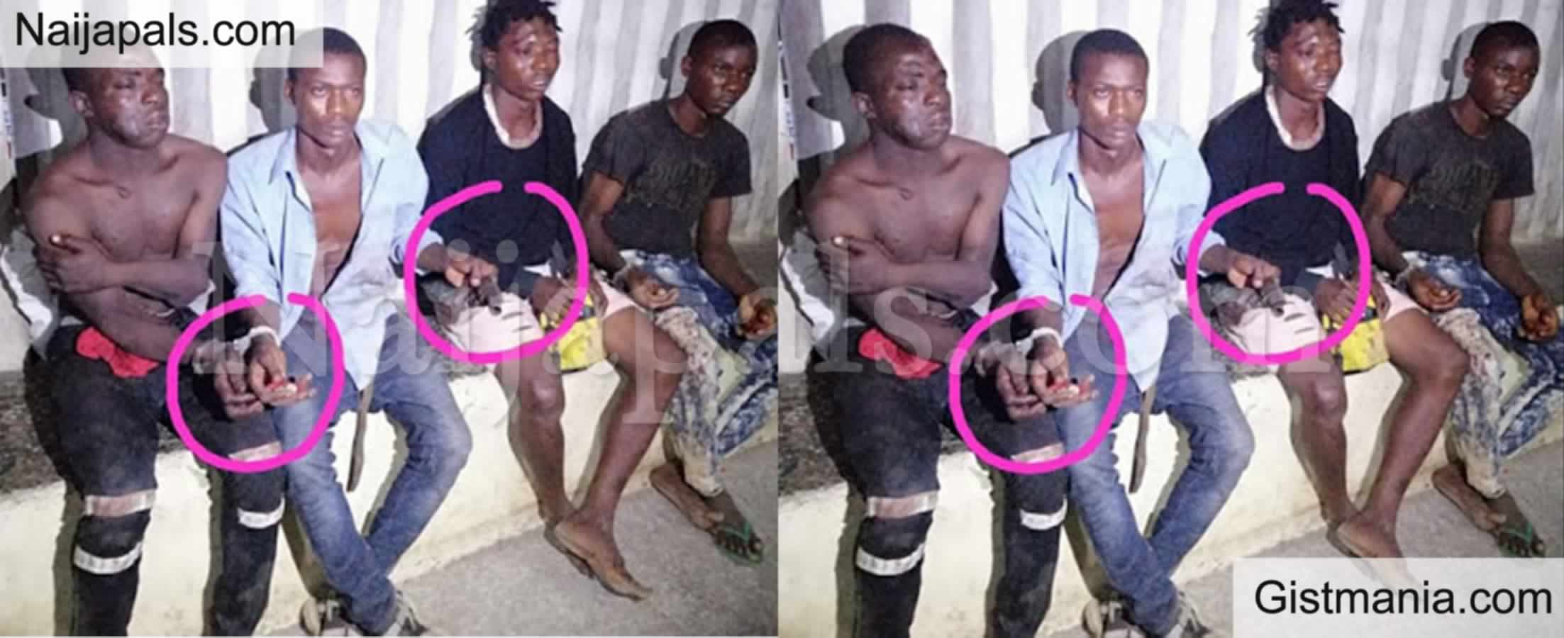 <img alt='.' class='lazyload' data-src='https://img.gistmania.com/emot/comment.gif' /> <b>Residents Rejoice As Police Arrest Four Suspected Armed Robbers Terrorizing People In Lagos </b>