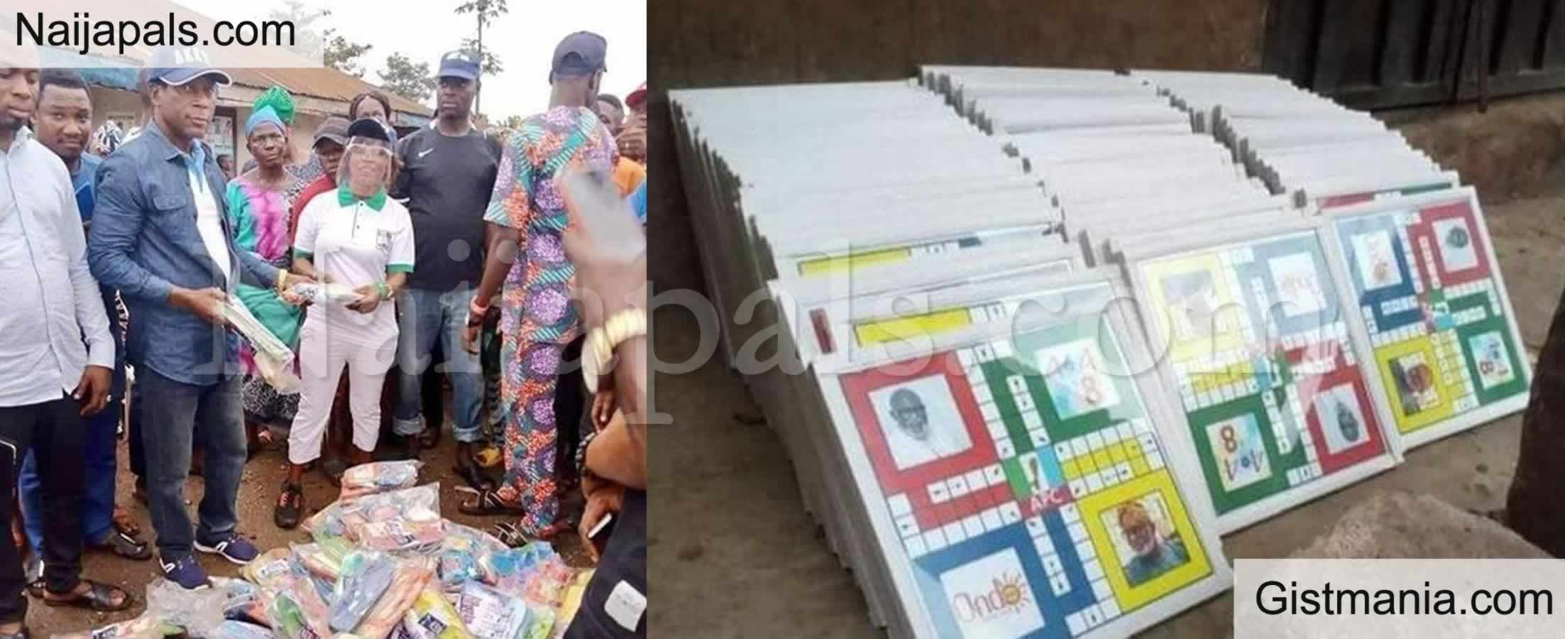 <img alt='.' class='lazyload' data-src='https://img.gistmania.com/emot/comment.gif' /> <b>Gov. Rotimi Akeredolu Shares Ludo and Slippers To Citizens Ahead Of Ondo Elections</b>